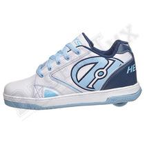 Heelys Propel White. Zapatos Tenis Con Ruedas Niñas Y Niños