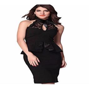 Vestido Gala Tipo Coctel Encaje Moda Asiatica Mujer Talla M