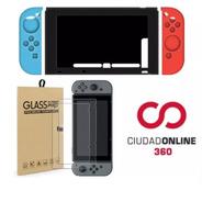Nintendo Switch Protector Silico+ Joy Con + Vidrio Templado