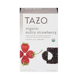 Mezcla De Sabores Tazo Orgánica Sensual Fresa Té Negro, 20 B