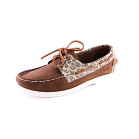 Zapatos Nauticos Mocasines Peskdores Marron Print Mp00013