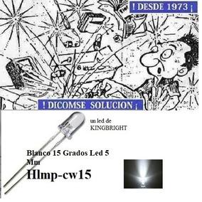 Led 5mm Blanco 15 Grados Led 5 Mm Hlmp-cw15