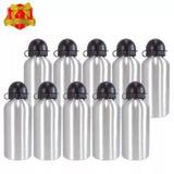 10 Squeeze Sublimação Garrafa Aluminio Prata 500ml