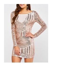 Vestido Corto Lentejuelas Hermoso Fiesta Oferta Dama Moda 53d0b68bf7ae