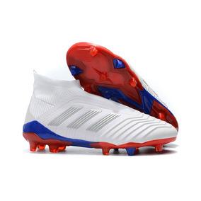 Chuteira Adidas Kaka Futebol Vermelha Adultos Campo - Chuteiras Azul ... 8ad53a7453547