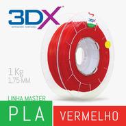 Filamento Pla 1,75 Mm | 1kg | Vermelho