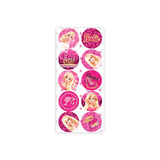 Adesivo Decorativo Redondo Barbie Core