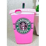 Case Capa Capinha Iphone 5 5s 5c Se Starbucks Rosa Lancament