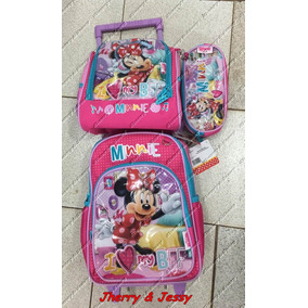 Mochila E Lancheira Termica Infantil Minnie Minie Disney
