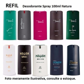 Refil Desodorante Spray 100ml Natura Homem Kaiak Urbe Sr N