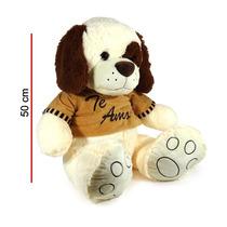 Peluche Perro Con Remera Te Amo Gigante 50 Cm Apro 5360