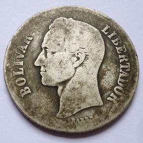 Moneda Venezuela 2 Bolivares 1935 Plata