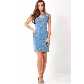 Roupas Femininas / Vestido Jeans Handara Com Recortes