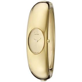 Calvin Klein De La Mujer K1y Exquisito Dorado Del Reloj Del