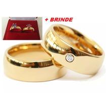 Aliança Par Tradicional Noivado Casamento Moeda Antiga 7mm