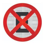 Placa R-6c (proibido Parar E Estacionar) Cm