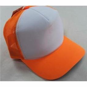 Gorras De Trucker Naranja Con Frente Blanco Venta X 5 Unidad