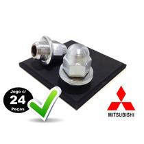 24 - Porcas Da Roda C/ Arruela Mitsubishi L200 E Triton