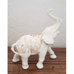Elefante Branco Vintage Blanche Porcelain