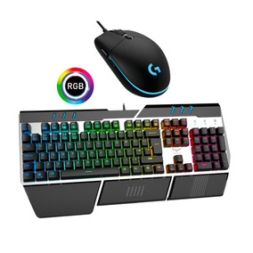 Kit Gamer Teclado Mecanico Rgb Havit + Mouse Rgb Logitech