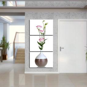 Quadro 120x60 Vaso Flores Sala Quarto Decorativo Interiores