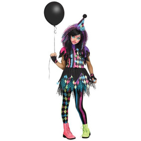 Disfraz Niña Payasita Traje Payaso Circo Halloween Terror