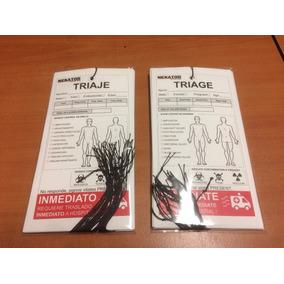 Tarjetas De Triaje, Urgencias Médicas/paramédicas (20 Pzs)