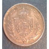 Antigua Moneda 200 Brasil Reis 1860