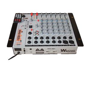 Mesa De Som Winvox 6 Canais 110/220/12v - Com Efeito+usb