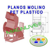Kit Planos Máquina Trituradora Pet Plástico Tierra Arcilla