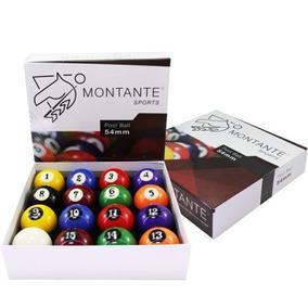 Jogo Importado 16 Bolas 54mm - Montante - Bilhar / Snooker