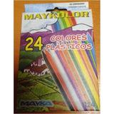 Creyones Plasticos Maykolor 24
