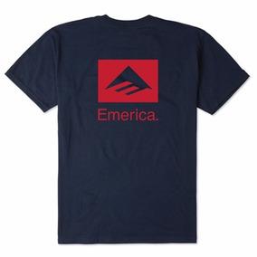 Remera Emerica Brand Combo Tee / Azul Estampa