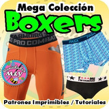 Patrones Moldes Imprimibles Boxer Masculino Interior Shorts