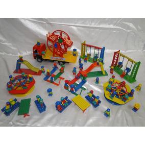 Mini Parque Parquinho Diversões 50 Bonecos Roda Gigante Gira