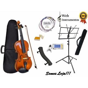 Violino Infantil 1/2 Ou 3/4 Com Acessórios