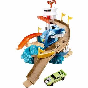 Pista Hot Wheels Color Change Ataque Tubarão Bgk04 - Mattel