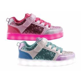 Zapatillas Glitter Y Luz Led Footy!!!