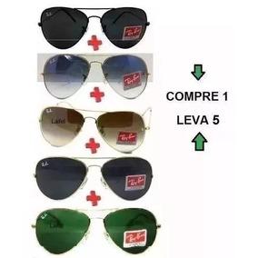 Óculos Sol Pague 1 Leve 5 Aviador Round Erika Frete Grátis!!