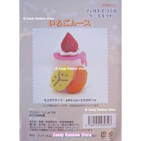 Kit De Fieltro Kawaii - Pudding 1- Lana Moldes Foamy Arcilla