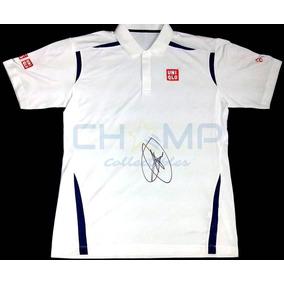 f49f2b58c9315 Playera Autografiada Novak Djokovic Uniqlo Australia Tennis