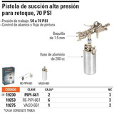 Pistola Para Pintar, Baja Presión, Aluminio, 50 Ps 19230
