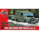 Airfix A Escala Land Rover Lwb (tapa Dura) Y El Remolque De
