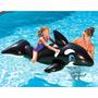 Boia Bote Inflável Baleia Orca Gigante Com Alça - Piscina