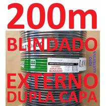 Cabo Rede Cat5e Preto 200m Ftp Externo Dc Blindado Condutti