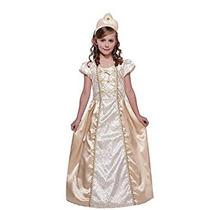 Disfraz Para Niña De Oro Del Vestido Del Traje De Princesa