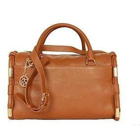 Bolsa Dkny Donna Karen Nueva York Leather Satchel Con Extra