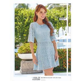 Vestido Azul Cielo Cklass 938-28.. Outlet/saldos Mchn