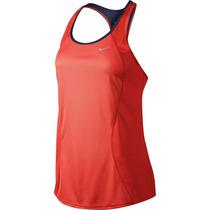 Camiseta Regata Feminina Nike Esportiva Azul Original
