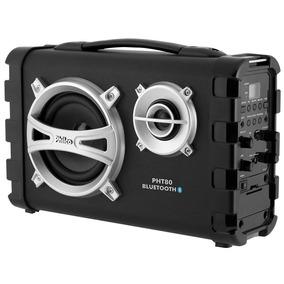 Caixa Acústica Pht80 Bateria Recarregável , 80w Rms -philco